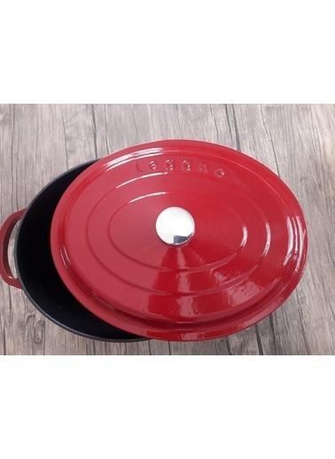 Leggno Flm4881Ot23Rd 23*29 Cm Oval Döküm Tencere Kırmızı Kırmızı